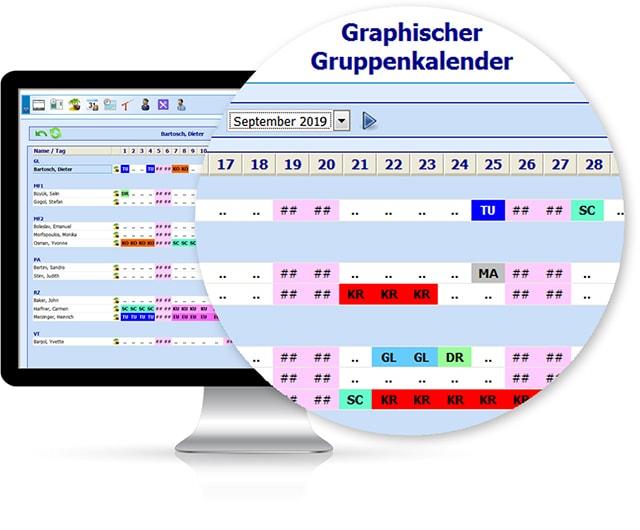 Bildschirmansicht / Monitor Mitarbeiter-Self-Service (MSS) - Software von IBIX