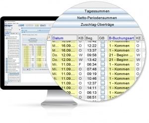 Bildschirmansicht / Monitor Zeitbewertung - Software von IBIX