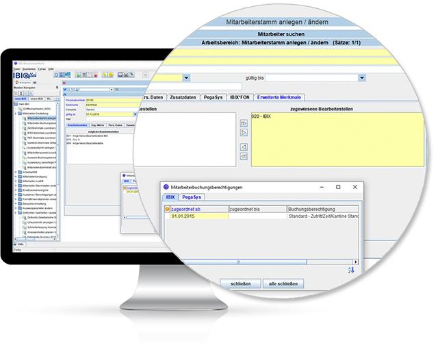 Bildschirmansicht / Monitor: ibix@flex Stammdaten