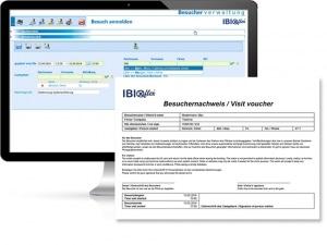 Besucherverwaltung: Monitor-Ansicht in der Besuchermanagement-Software von IBIX