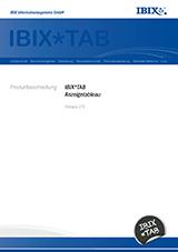 IBIX*TAB Produktbeschreibung 2.9